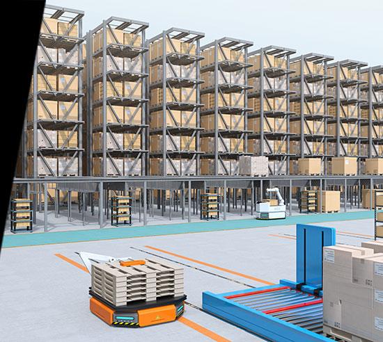 automate logistique agv - SERAD AUTOMATION